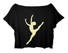 Women Crop Top Ballet Dance Shirt Pointe Ballet Dance Tshirt (black) http://www.amazon.com/dp/B015EH5620/ref=cm_sw_r_pi_dp_Zid-vb1YMMP2D