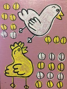 """Chicks,"" by Nicole S. Perfect for a farm-themed kitchen or baby's room."