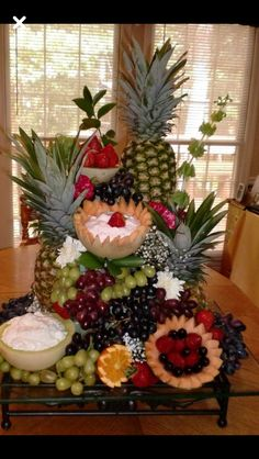 Belham Living Kennedy Buffet Buffets Sideboards At . How To Decorate A Buffet Table In Dining Room. Home and Family Fruit Salad Decoration, Food Table Decorations, Fruit Centerpieces, Fruit Arrangements, Decoration Table, Christmas Buffet Table, Fruit Buffet, Fruit Platters, Fruit Tables