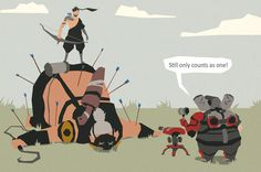"""""""Still Only counts as one!"""" Overwatch, Torbjorn, Hanzo, Roadhog, LOTR"""