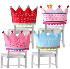 Crown chair covers, cute for a little girl's party. $16 at ibizafinegifts.com