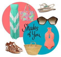 """""""Shades of You: Sunglass Hut Contest Entry"""" by ashley-janee ❤ liked on Polyvore featuring Lilliput & Felix, Lilly Pulitzer, LE3NO, Valentino, Miu Miu and shadesofyou"""