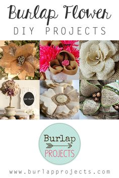 Would you like a real simple but amazing DIY? Check out todays collection of Burlap Flower DIY Projects. They are great embellishments you will love.
