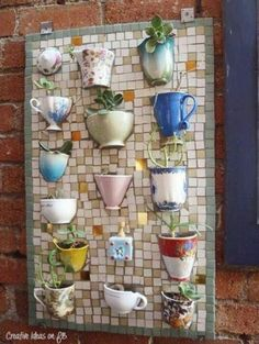 Funky use for broken mugs