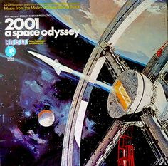 "2001 a space odyssey | Original album cover of the Soundtrack LP for the film ""2001 A Space OIdyssey"" by Stanley Kubrick on MGM Records No CS8078 Stereo dated 1968."