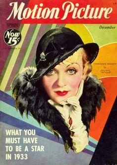 Vintage Movie Magazine Cover - Constance Bennett - 1929