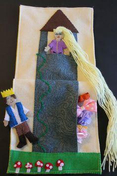 Rapunzel Quiet Book page