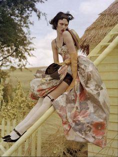 Photographer:Tim Walker  Stylist: Jacob K.  Models: Karlie Kloss  Magazine: W