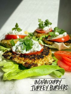 Shake up your turkey burger game and make these Indian Curry Turkey Burgers. Tracy Benjamin of Shutterbean shows you a recipe that's part of her meal prep! Veggie Recipes, Indian Food Recipes, Asian Recipes, Vegetarian Recipes, Healthy Recipes, Hamburger Recipes, Vegetarian Cooking, Veggie Food, Rice Recipes