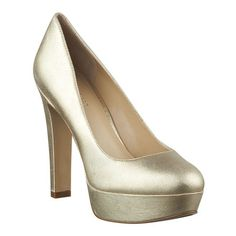 """Straight from the Runway!  Whitney Port featured this shoe at New York Fashion Week.....round toe pump with 4 1/2"""" heel and 1 1/4"""" platform.  Due to the nature of platform pumps, the high pitch may cause your foot to slide forward. We are including a pair of insoles with your purchase to adjust the fit to your foot, if needed."""