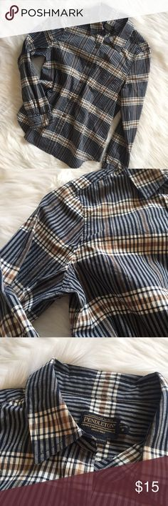 🆕 Pendleton Petite Button Down Plaid Shirt Pendleton Petite Button Down Plaid Shirt. Relaxed fit. Excellent used condition - no flaws. **Smoke free home. Ask questions. Bundle to save both on shipping and total price. Serious and reasonable offers only (no more than 10% of listing price). Not interested in trades ATM. Sharing is caring!** Pendleton Tops Button Down Shirts