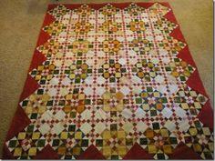Diane Mannion's Double Delight quilt, a Bonnie Hunter mystery quilt