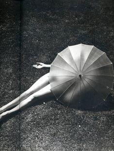 "yama-bato:  "" Martin Munkacsi  Nude with Parasol(detail)  link and here  """