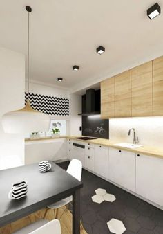 Fabulous Modern Kitchen Sets on Simplicity, Efficiency and Elegance - Home of Pondo - Home Design Kitchen Worktop, Kitchen Flooring, Kitchen Sets, New Kitchen, Kitchen Black, Kitchen Interior, Kitchen Decor, Cocina Office, Sweet Home