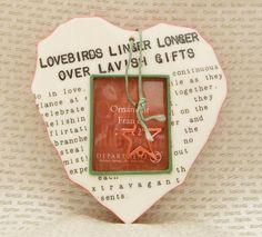Department 56 Lovebirds Linger Longer Over Lavish Gifts Photo Christmas Ornament #Department56
