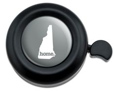 Amazon.com : Cool and Custom {Fully Adjustable to Fit Most Bikes} Bicycle Handlebar Bell Made of Hard Metal with New Hampshire Home State Design {Black, Gray and White Colors} : Sports & Outdoors
