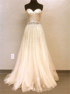 Rose Gold Wedding Dress Belt With Long Length And Sweetheart Neckline And Tulle Fabric