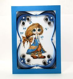 Quilled Paper Handmade Greeting Card  by EllensCardsAndCrafts