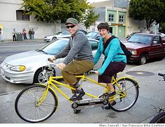 Ride a tandem bicycle