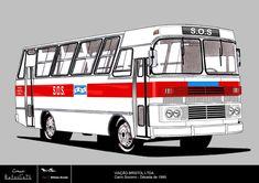 Viação Bristol Ltda. (Carro Socorro) Bristol, Mercedes Benz, Vehicles, Cars, Dibujo, Transportation, Aluminum Cans, 1990s, Infancy