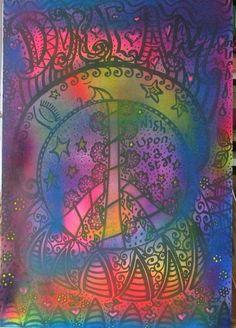 Dream...Original Hippie Art, Poster, Mandala by DawnCollinsArt on Etsy