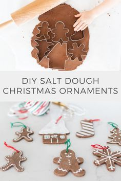 Ready for a little holiday crafting? Whip up these classic salt dough ornaments with your kids and choose som3 of the other projects shared by 21 other talented bloggers. #diyornaments #christmasornaments