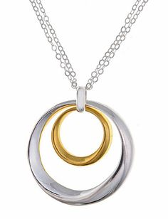 646b679e8 Be in love with this ornately designed sterling silver and gold vermeil  necklace by Argento Vivo.