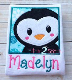 I2S Penguin Box Applique -- 4x4, 5x5, 6x6, & 7x7