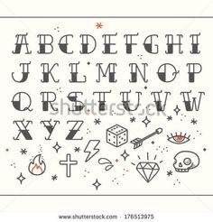 Letters w&b