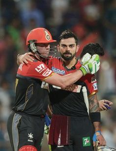 RCB fans took it to a whole new level when they milk showered the posters of two of RCB's favourite son, Virat Kohli and Ab de Villiers. Ab De Villiers Photo, Virat Kohli Wallpapers, T20 Cricket, Cricket Update, Cricket Wallpapers, Dhoni Wallpapers, Favorite Son, Best Duos, Stylish Boys