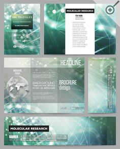 Corporate templates with DNA by VectorShop on Creative Market