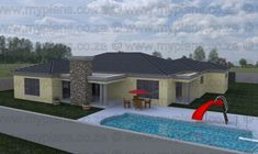 3 Bedroom House Plan - My Building Plans My Building, Building Plans, Single Storey House Plans, Tuscan House Plans, Double Garage, Bedroom House Plans, Open Plan Living, Master Suite, Mlb