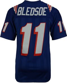 Mitchell  amp  Ness Men s Drew Bledsoe New England Patriots Replica  Throwback Jersey Drew Bledsoe c4bb728bc