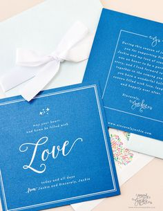 2014 Sincerely, Jackie HolidayCards. Cobalt/Navy cards on metallic paper