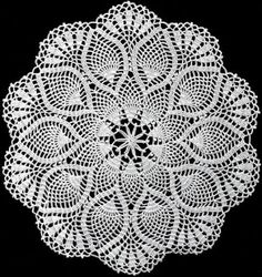 Ponteando: Doily de crochê com gráfico - ponto abacaxi