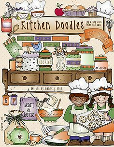 We've mixed some sugar & spice with heart & home... & whipped-up a warm & inviting DJ download! 'Kitchen Doodles' includes over 50 deliciously sweet clip art images... perfect for recipes, spice & jar labels, family cook books, and memories of milk & cookies...  Be sure to get our 'Kitchen Doodles Recipe Cards' add-on too!   Go to 'Kitchen Doodles' download: http://www.djinkers.com/kitchendoodles.html  Go to 'Recipe Cards' add-on: http://www.djinkers.com/kitchen_recipes.html