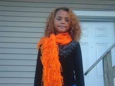 The Shredded Pumpkin Halloween Scarf by mitchellheart on Etsy, $20.00