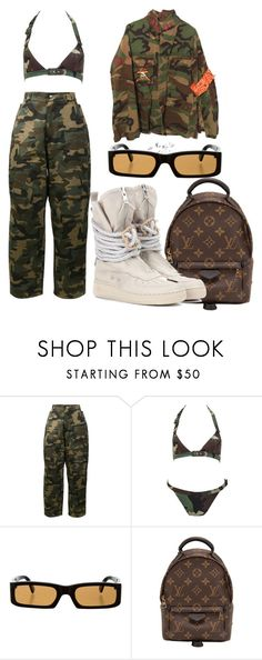 """""""#922"""" by babygyal09 ❤ liked on Polyvore featuring Hood by Air, John Galliano, Dolce&Gabbana, Louis Vuitton and NIKE"""