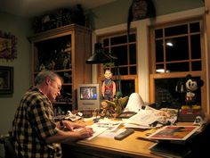 Steve Purcell in his studio