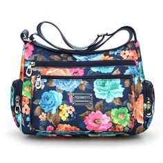 Floral Shoulder Bag Rural style Fashion Women Bag European and American  style Vintage Bag Lightweight More 539cd08b450d9