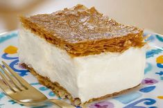 The Most Beautiful Dessert Made From Baklava Dough Baklava Cheesecake, Cheesecake Recipes, Baklava Dessert, Beaux Desserts, Sweet Desserts, Best Dessert Recipes, Snack Recipes, Chocolate Chip Bars, Cakes Plus