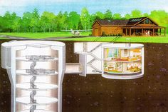 Missile Silo Cabin with airstrip, asking price $750K.  Located in New York's Adirondack State Park.