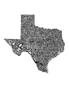 Texas -typography map art print - customizable 8x10 - free shipping. $25.00, via Etsy.