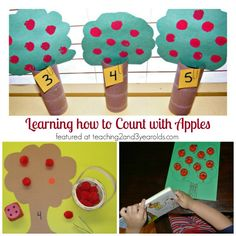apple counting activities for preschoolers