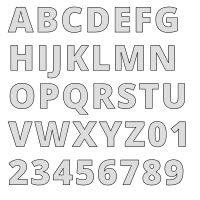Large Letter Stencils, Number Stencils, Alphabet Stencils, Free Stencils, Large Letters, Monogram Maker, Printable Alphabet Letters, Stencil Font, Commercial Fonts