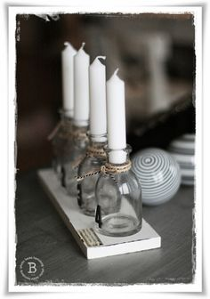 bottle candle holders