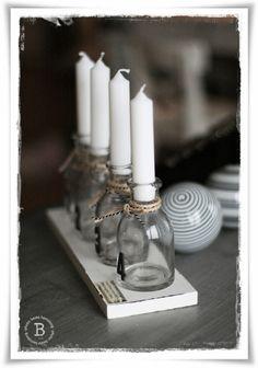Lindos candelabros improvisados