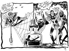 Rare Steve Ditko drawing of Spider-Man and Doctor Strange sent to the Alter Ego fanzine.