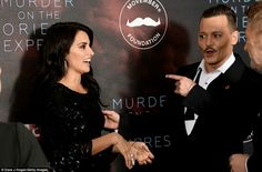 Murder on the Orient Express premiere  02 /11 /2017 Johnny Depp & Penelope Cruz