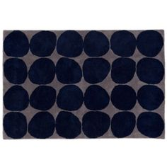 Ink Spot Rug (Blue) LOVE this pattern.  Really wanted a circular rug but this is my top choice for rectangular.  Would it be too dark though?